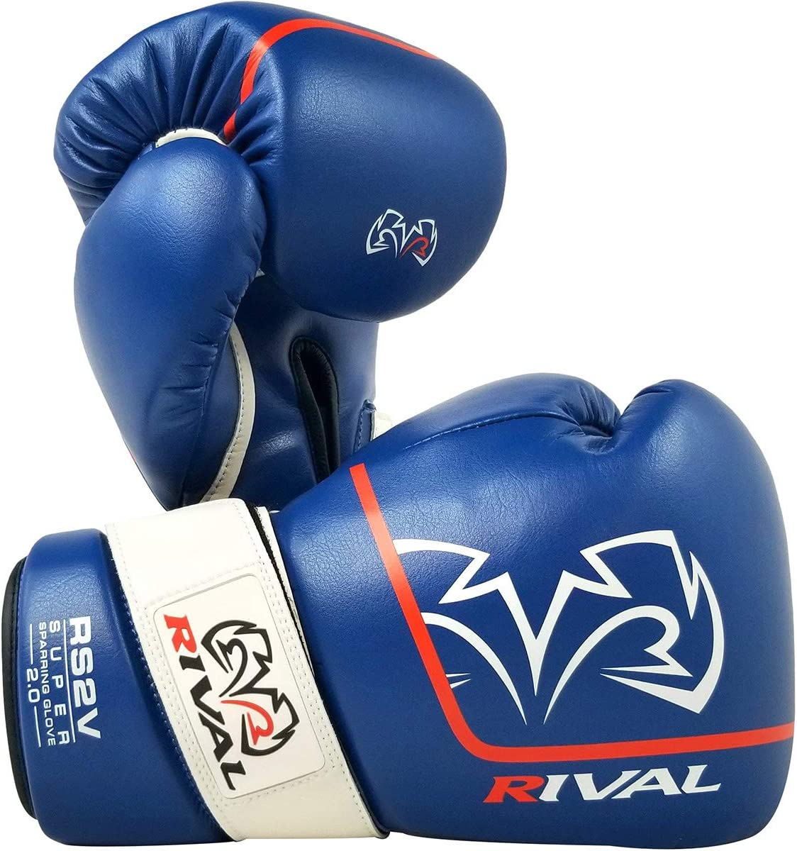 Rival Boxing RS2V 2.0 Super Pro Hook and Loop Sparring Gloves Red