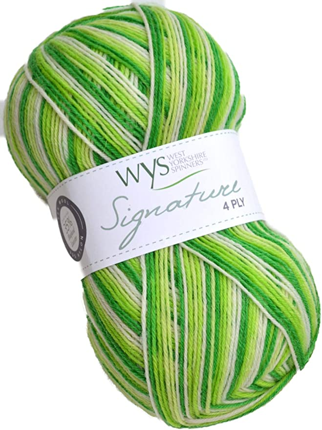 West Yorkshire Spinners Signature 4 Ply Yarn Wool 100g 735 Blackcurrant Bomb