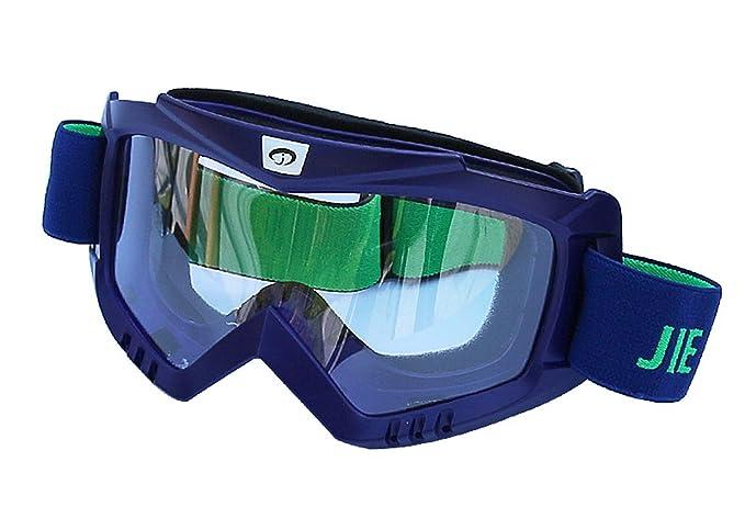 b627291d9a AnazoZ Gafas Deportivas Gafas Protectoras Viento Gafas de Nieve Gafas  Antipolvo Gafas de Moto Gafas Protectoras Viento Gafas Azul: Amazon.es:  Ropa y ...