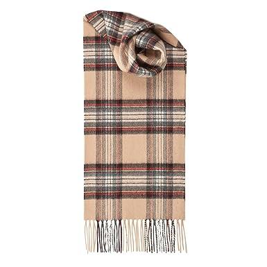 Echarpe ecossaise en cachemire tartan Stewart Camel  Amazon.fr ... 0be406f8058