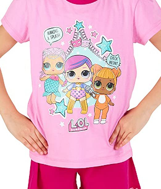 L.O.L Surprise Dolls Pijama para Niñas Soft Cotton PJs Pijamas Confetti Pop Pjs Lil Sisters: Amazon.es: Ropa y accesorios