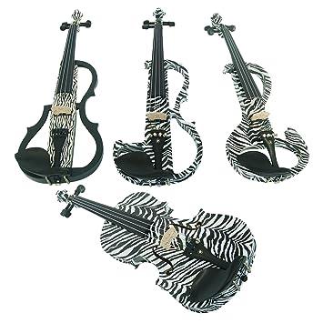 Aliyes madera eléctrico violín tamaño completo 4/4 avanzada ...