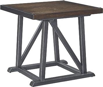 Amazon Com Signature Design By Ashley Zenfield Medium Brown Square End Table Furniture Decor
