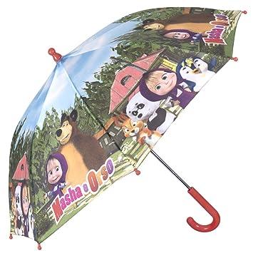 PERLETTI Paraguas con diseño de Masha y el Oso, 42 x 8 cm, para
