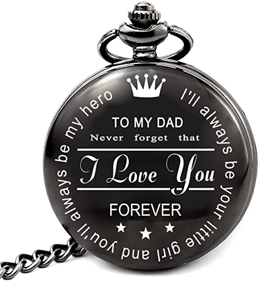 Amazon Com Levonta Dad Gifts For Birthday Christmas Fathers Day Best Daddy Wedding Gift Ideas To My Dad Pocket Watch Pw Hero Dad Roman Home Kitchen