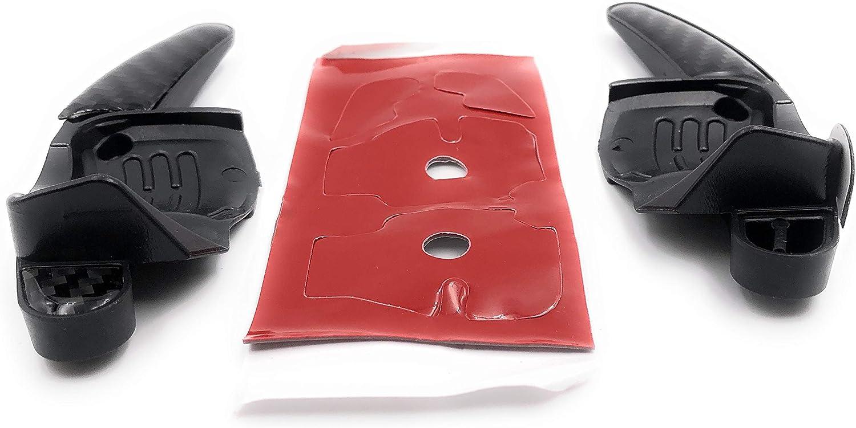 Onlineworld2013 Palettes de Commande Dsg Shift Paddle Superb 2 Oktavia Rapid Kodiaq Karoq Carbon Optik