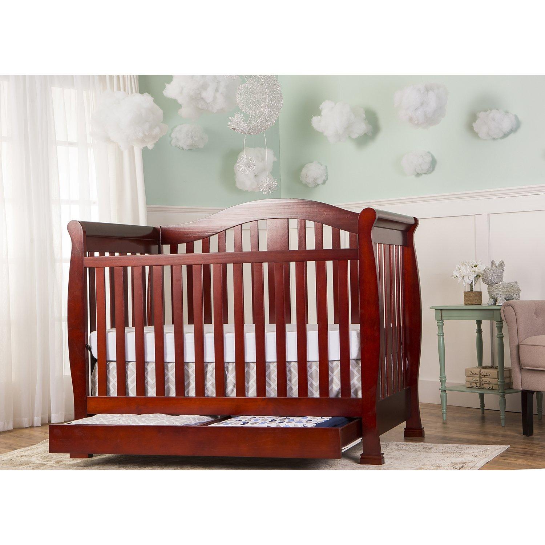 Amazon.com : Dream On Me Addison Crib, Cherry : Convertible Cribs : Baby