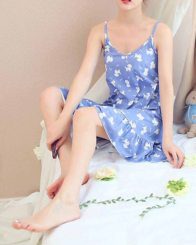 BOOPH Girls Nightgown Big Girl Sleeveless Sleepwear Cute Dog Spaghetti Strap Nightwear Dress for Teenage Girls 9-16 Year Old
