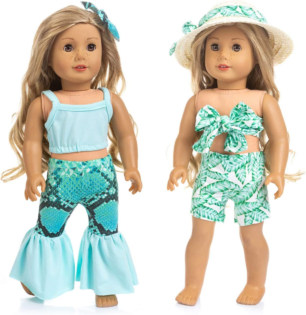 Fast Handmade Fashion Doll Summer Dress /& Hat Clothes for 18 inch Doll Wear New
