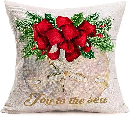 US SELLER-4pcs cushion covers starfish jellyfish seashell throw pillow cases