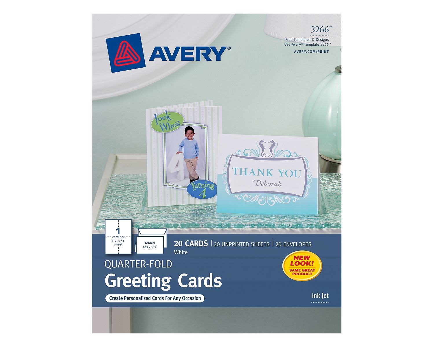 Amazon Avery Quarter Fold Greeting Cards For Inkjet Printers