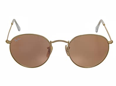 bb35a5aa981 Image Unavailable. Image not available for. Color  New Ray Ban RB3447 112 Z2  Matte Gold Brown Pink Mirror 50mm Sunglasses