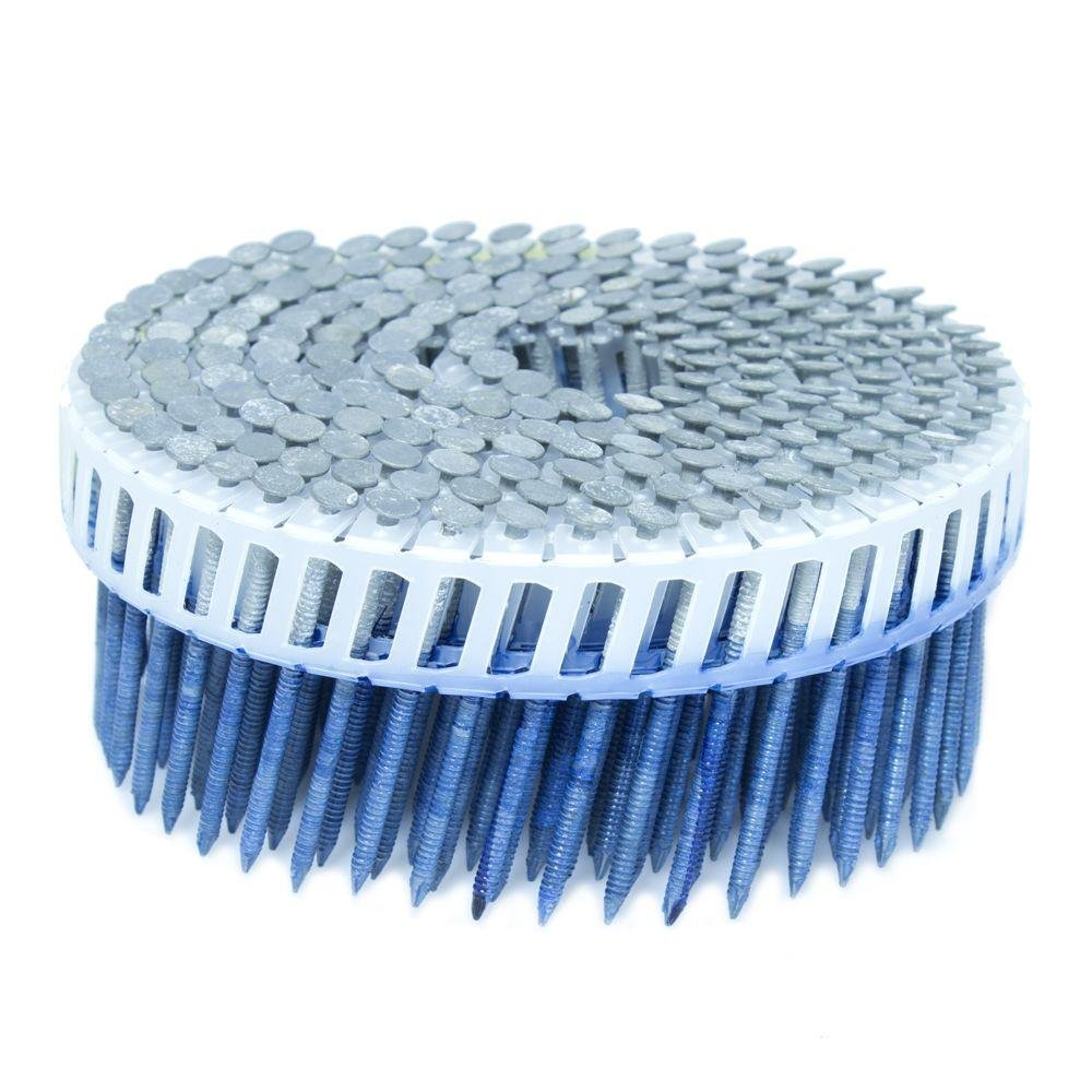 FASCO 2 in. x 0.092 in. 15-Degree Ring Hot Dip Plastic Sheet Coil Siding Nail 3,200 per Box