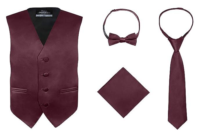 1b04c8ec3ced Amazon.com: S.H. Churchill & Co. Boy's 4 Piece Vest Set, with Bow ...