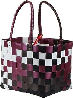 ICE-BAG Mini-Shopper '5008-01' Witzgall Original Einkaufskorb dunkelrot-weiß