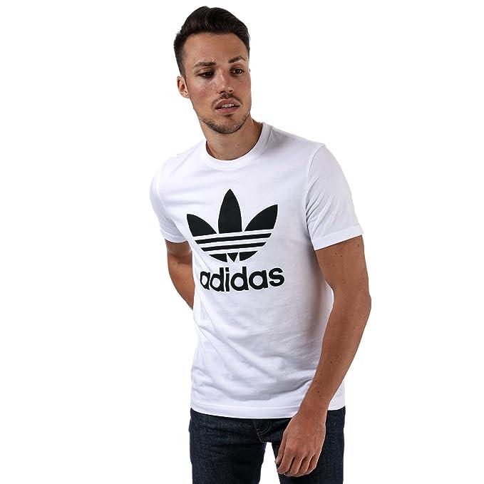 adidas Originals - Camiseta - para Hombre Blanco Blanco XX-Large
