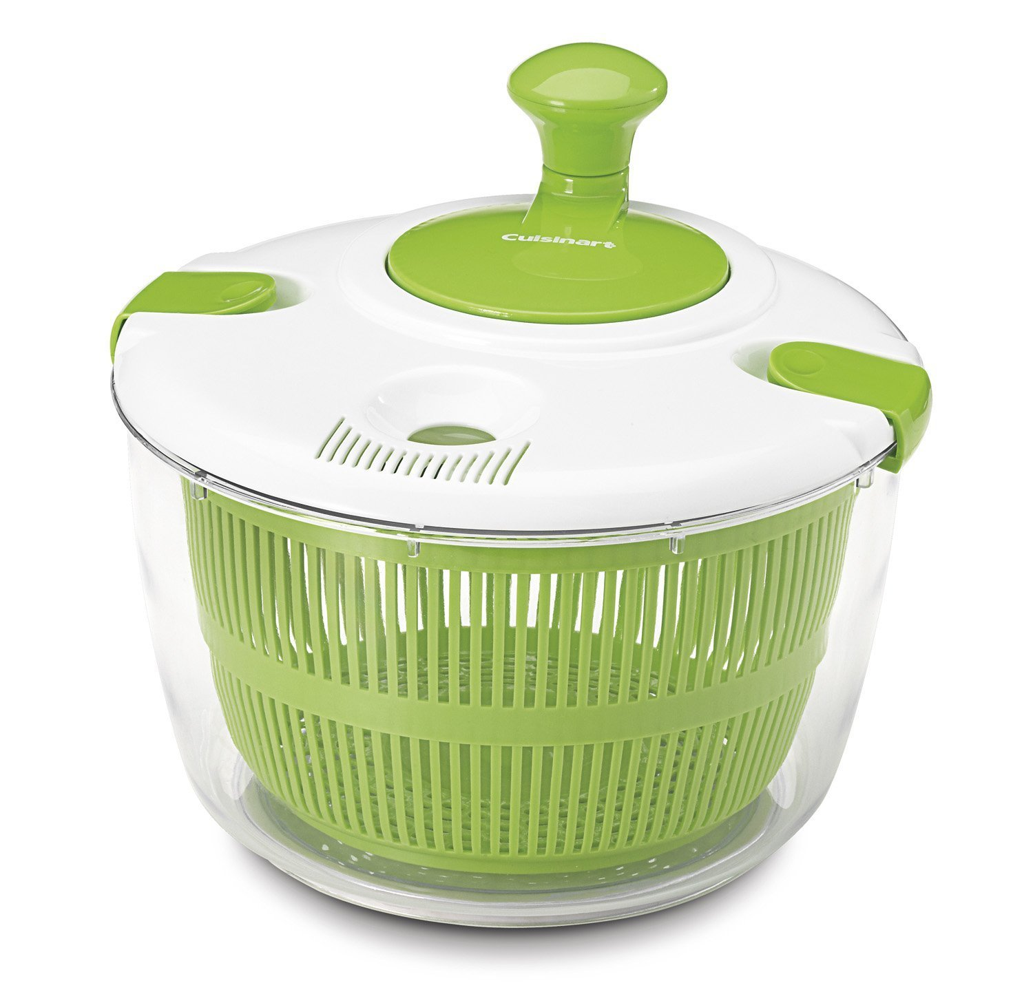 BenchMart Large Salad Spinner - 5L Capacity & BPA Free Collapsible Vegetable Dryer with Clear Bowl, Unique Pause Button, Colander Basket Insert, Dry Off & Drain Lettuce and Vegetable With Ease and Faster Food Prep - Ideal Gadget for all Kitchen Lov