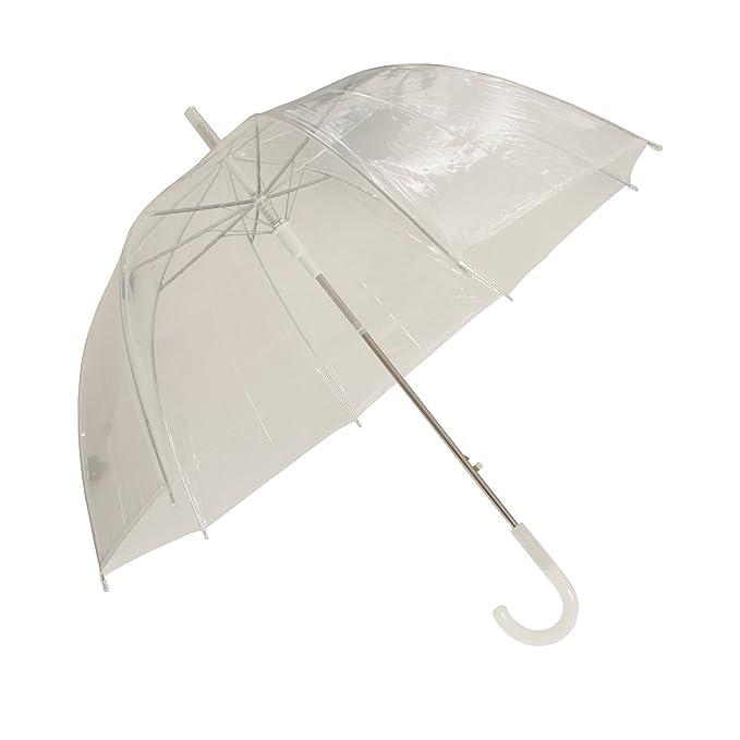 Susino - Paraguas transparente (58.5cm/Transparente): Amazon.es: Ropa y accesorios