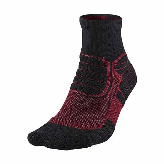 8d89306cb04f Jordan Dri-Fit Jumpman Advance High Quarter Basketball Socks-Black Red-Small