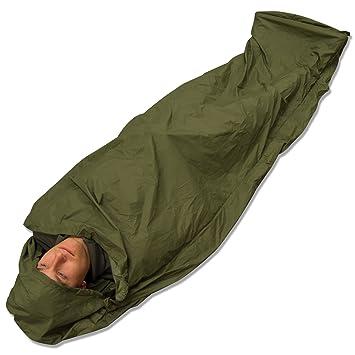 -andes– Saco de Dormir de vivac, Impermeable, para Acampada y Pesca