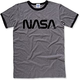 product image for Hank Player U.S.A. NASA Retro Worm Logo Men's Ringer T-Shirt