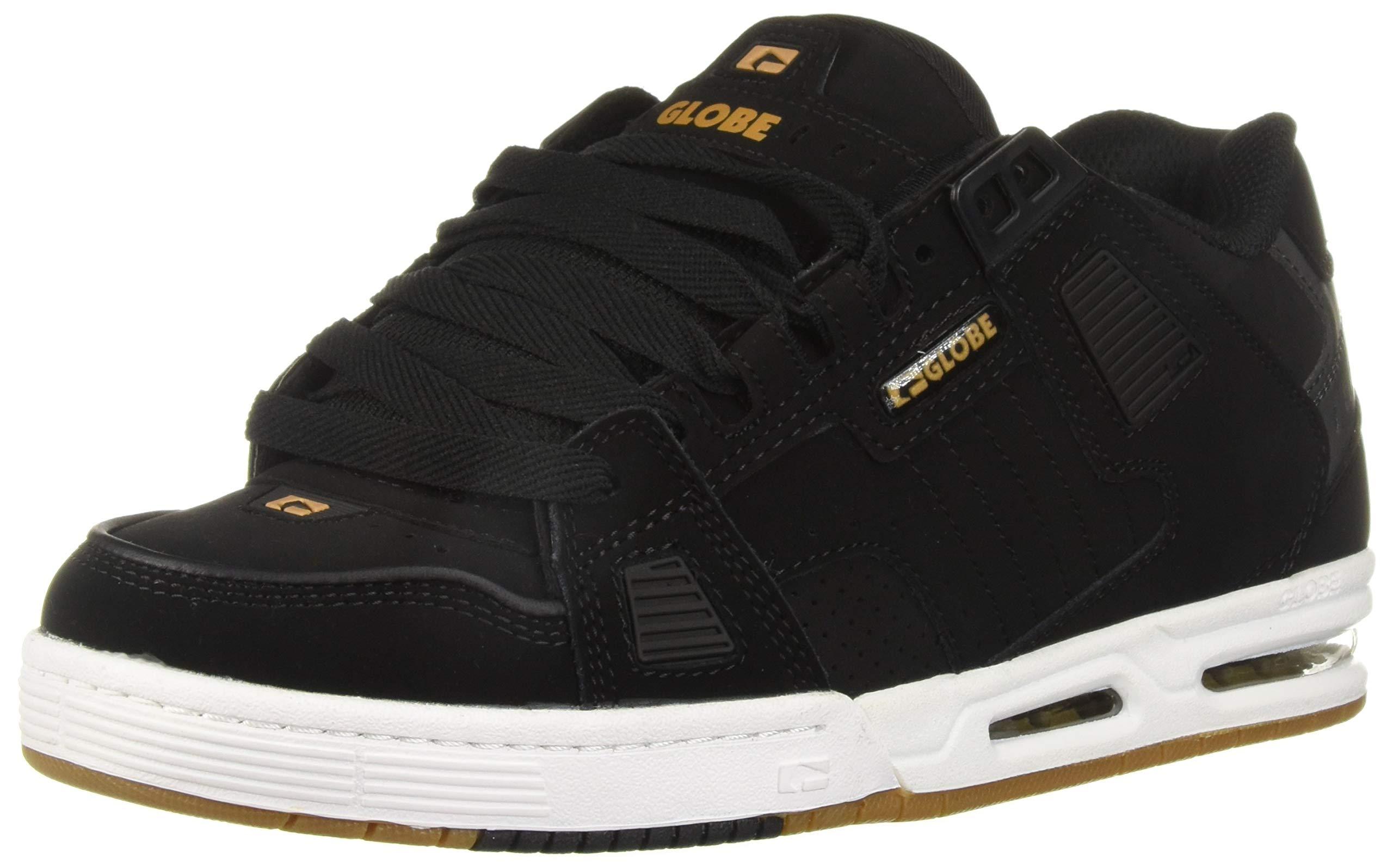Globe Men's Sabre Skate Shoe, Black/Gold, 11.5 M US
