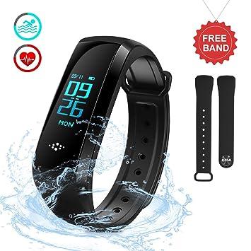 Bracelet Connecté, EZfull Montre Connectée Sport Fitness Tracker dActivité Montre Cardio Étanche IP67 Bracelet Intelligent Podomètre Calories ...