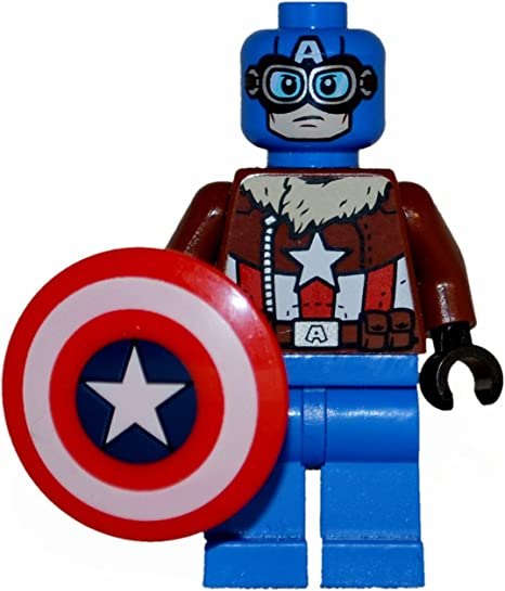 LEGO Marvel Super Heroes Pilot Captain America Minifigure from set 76076 new