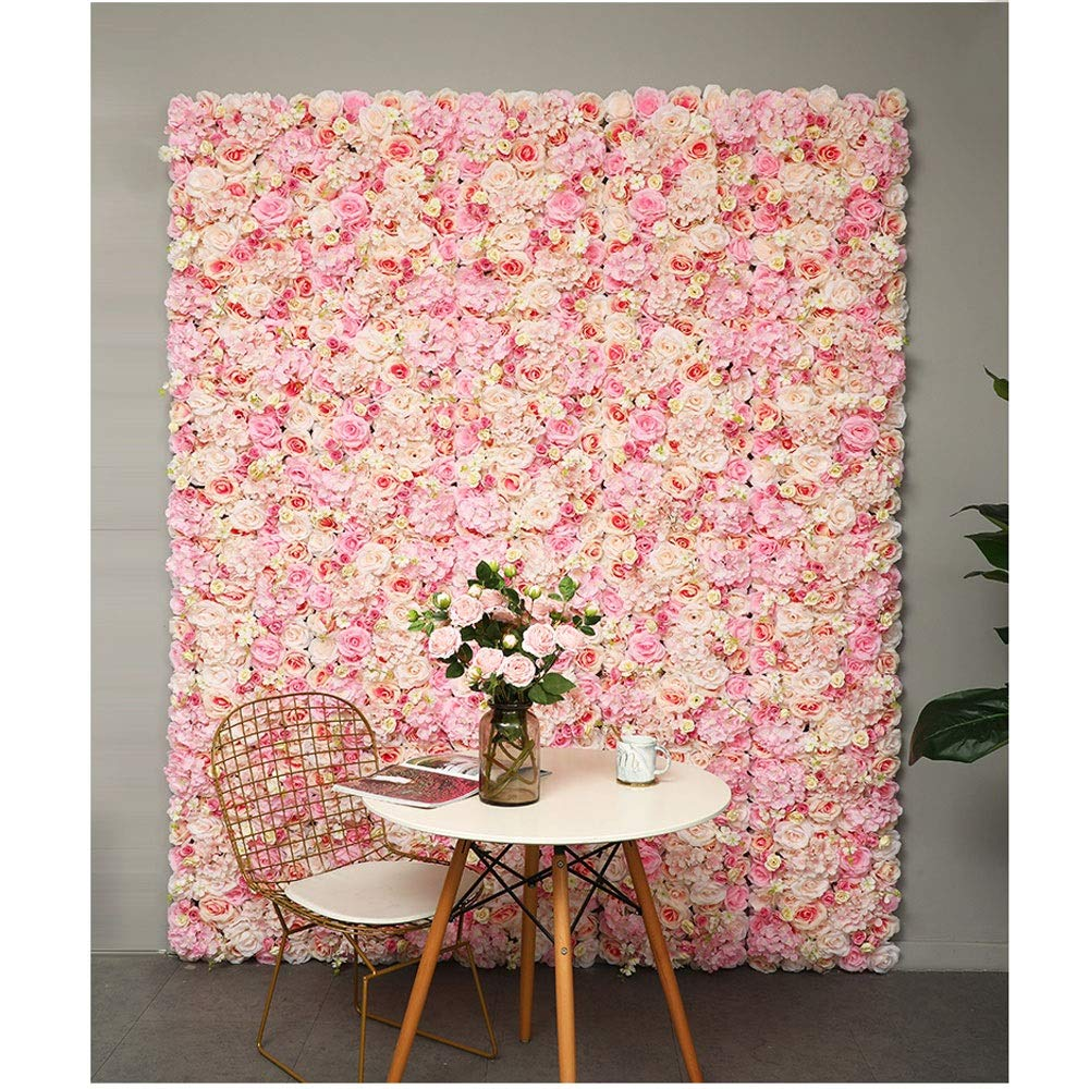 YI GAO Flower Wall Background Wall Beauty Salon Creative Sign Wedding Banquet Wedding Wall Fake Flower Decoration Indoor net red Wall (5 Colors Optional) @ by YI GAO