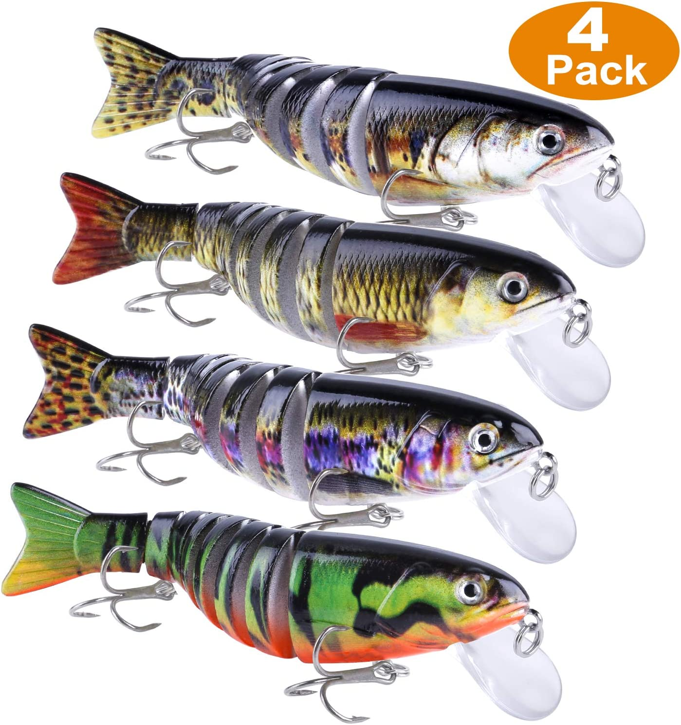 Fishing Lures  Trout Multi Jointed Swimbaits  Sinking Swimming Lures Too