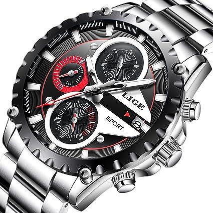 Amazon.com: LIGE Watch Reloj de cuarzo deportivo de moda ...