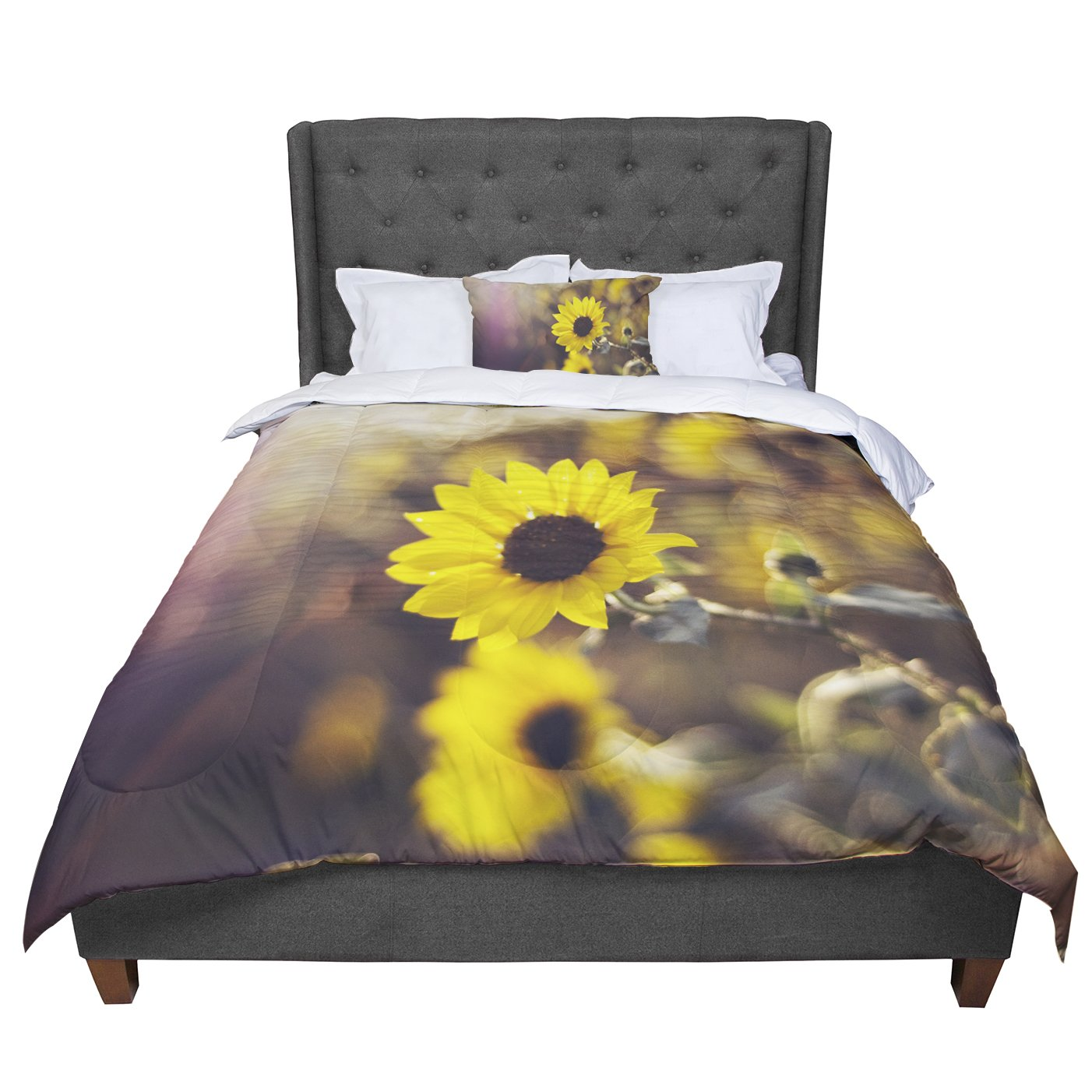 Cal King Comforter 104 X 88 KESS InHouse Libertad Leal Magic Light Flower King