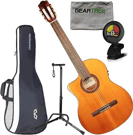 Cordoba c5-ce zurdos eléctrica (cuerdas de nailon guitarra w ...