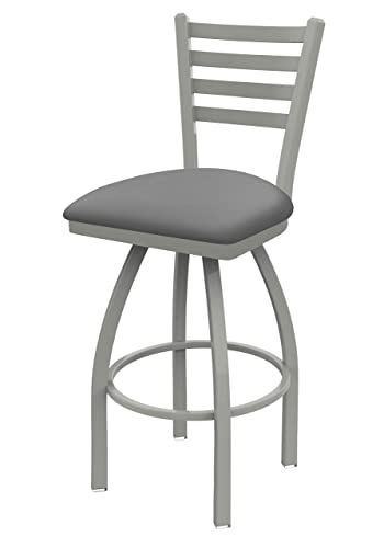 Holland Bar Stool Co. 41036AN007 410 Jackie Swivel Bar Stool, 36 Seat Height, Canter Folkstone Grey