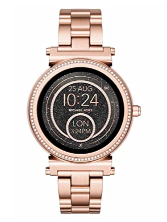 Amazon.com: Michael Kors Rose Gold Crystal Sofie Gen Smart ...