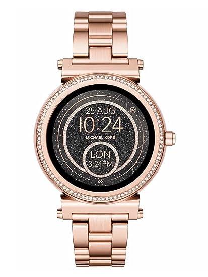 Michael Kors Reloj inteligente de oro rosa con cristal de sofie Gen: Amazon.es: Relojes