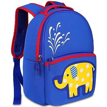 Mochila Infantil Niño, YAMTION Mochilas Guardería Preescolar para Bebé Niño Niña Toddler Backpacks, Mochila Escolar para Niños 3-6 Años(Azul-Elefante): ...