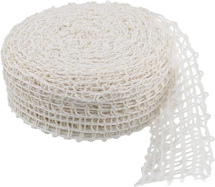 Rural365 Meat Netting Roll, Size 20 - Ham Sock Elastic Netting Meat Butcher Twine Net Meat Netting Roll Meat, 50ft Roll