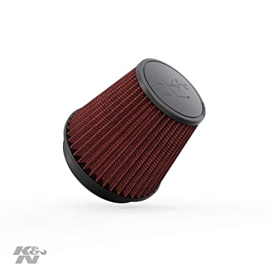 K&N Universal Clamp-On Air Filter: High Performance, Premium, Washable, Replacement Engine Filter: Flange Diameter: 6 In, Filter Height: 6.5 In, Flange Length: 1 In, Shape: Round Tapered, RF-1042: Automotive