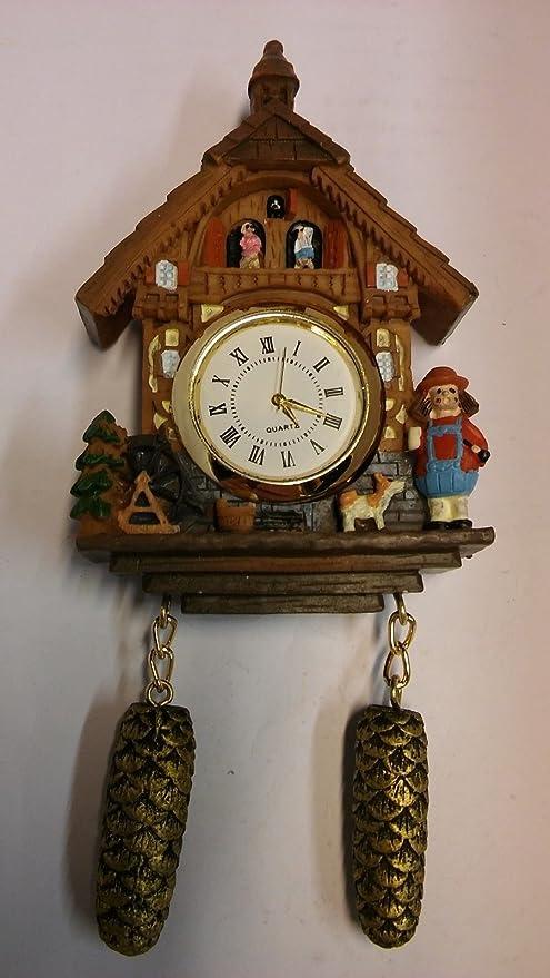 Miniatura Reloj Cucú Imán Selva Negra Reloj Regalo Souvenir