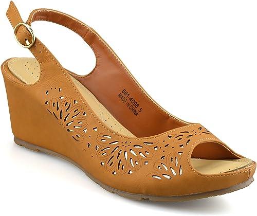 BATA Ladies Womens Mid Wedge Heel Wide