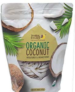 Nutty & Fruity Organic Coconut Strips- Unsulfured & Unsweetened