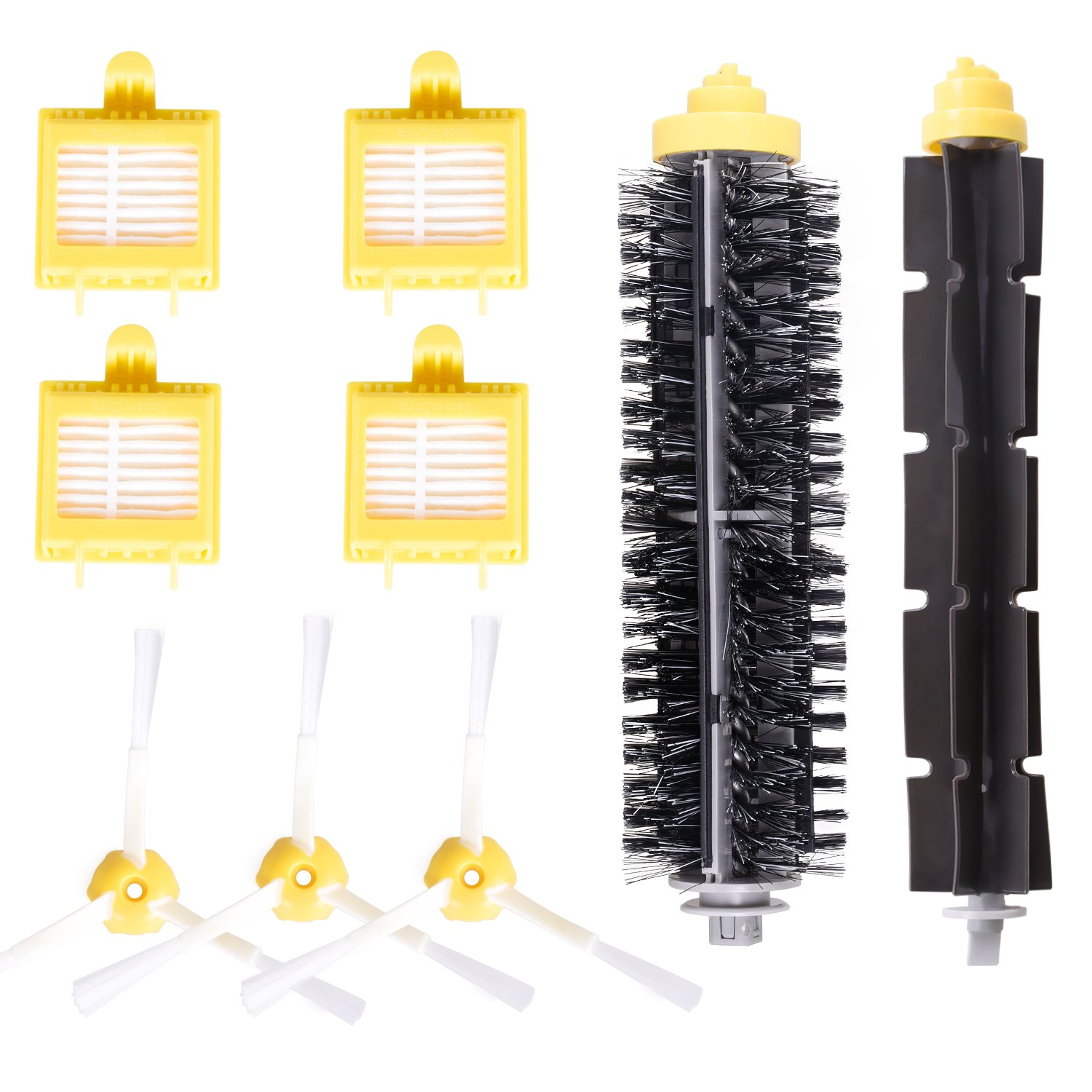 Accessory for iRobot 700 Series 720 750 760 765 770 772 772e 774 775 776 776p 782 782e 785 786 786p 790 Roomba 780 Accessories Replacement Kit Replenishment Parts Set Filter Side Brush Roller