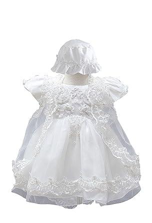b4ed11b744 BabyPreg Niñas bebés Bautizo Vestido de bautismo Cumplea os Vestido de  Fiesta poliéster algodón  Amazon.es  Ropa y accesorios