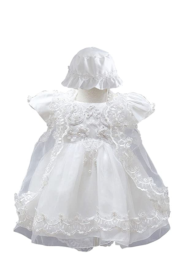 Amazon.com: BabyPreg® Baby Girls Christening Baptism Gown Birthday ...