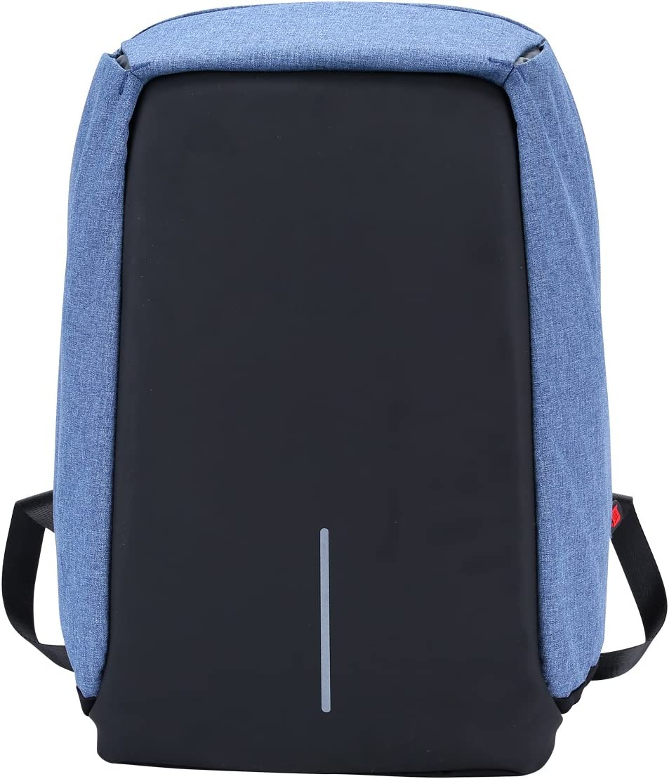 Xnbda Waterproof Anti Theft Laptop Backpack with USB Charging Port Business Travel Backpack Bag for Men Women 15.6 Inch Laptop Blue