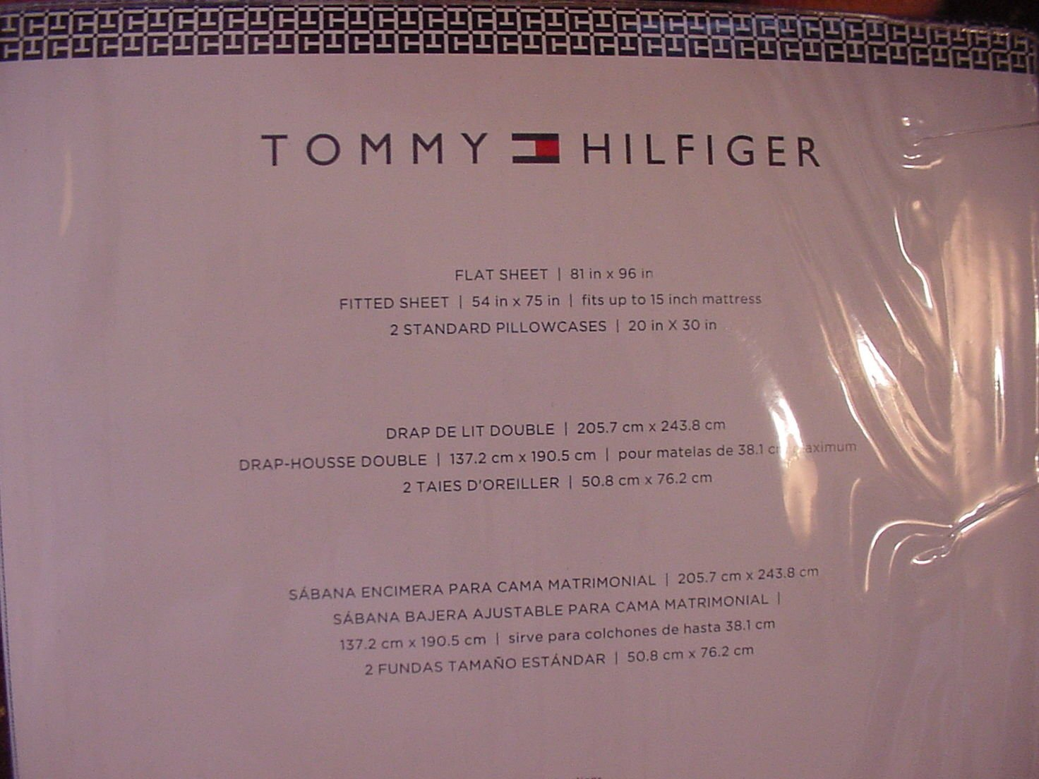 Amazon.com: Tommy Hilfiger Blue White Oxford Stripe Sheet ...