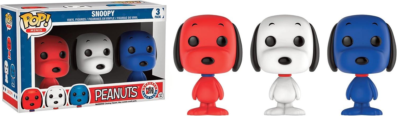 FunKo Free Shippi Rock the Vote Snoopy Mini Pop Peanuts Vinyl Figure 3 Pack