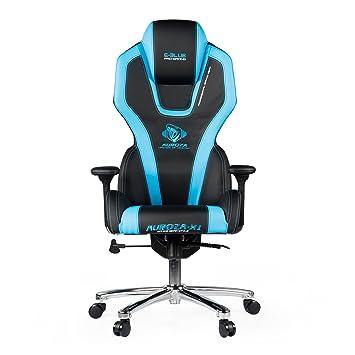 E-Blue Auroza Juegos Silla Oficina ergonómica Ordenador Esports Escritorio Ejecutivo eec305b Azul: Amazon.es: Hogar