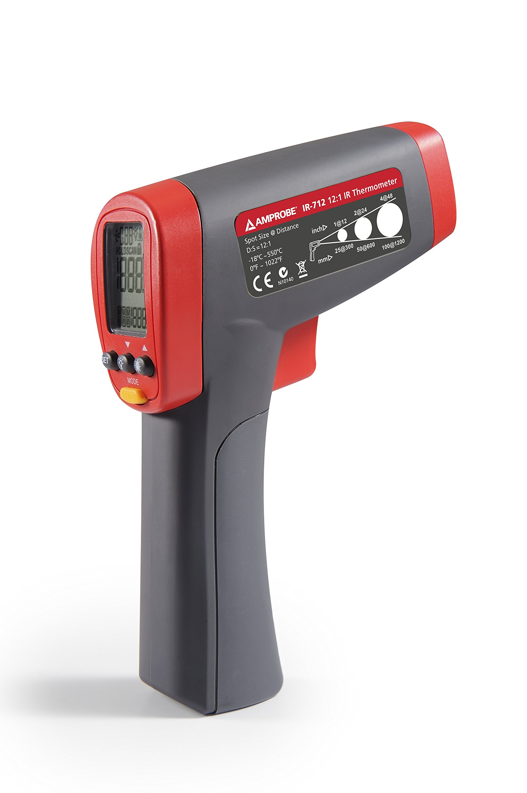 Amprobe IR-712 Infrared Thermometer - 0F to 1022F, 12:1 by Amprobe (Image #3)